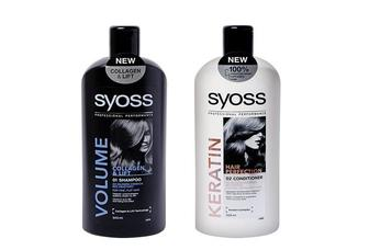 Шампунь/Бальзам Шампунь/Бальзам Volume Collagen&Lift, для тонких волос/ Keratin Hair Perfection, для сухих и ослабленных волос  Syoss 500 мл
