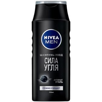 Шампунь-догляд Nivea Men для чоловіків Сила вугілля 250мл