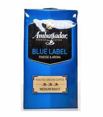 Кава смажена мелена Амбассадор 250г