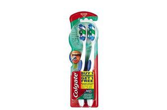Набір щітка зубна 360 суперчистота, середньої жорсткості  Colgate 1+1 шт.