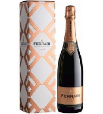 Вино ігристе Ferrari Rose брют рожеве 0,75л 12,50%