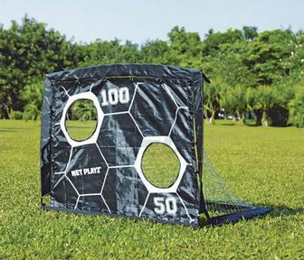 Футбольні ворота розкладні Net Playz Soccer Smart Playz ODS-2040 з мішенню 2 в 1 чорний