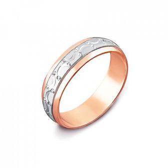Обручальное кольцо комбинированное. Модель «Антистресс». Артикул 1029/1