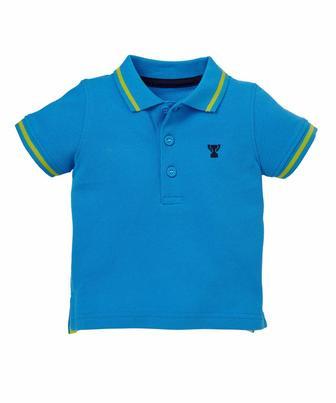 Блакитна сорочка-поло від Mothercare