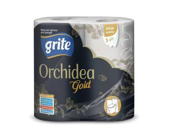 Папір туалетний Grite Orchidea Gold 4 рулони/уп