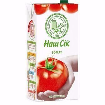 Сік томатний з м'якоттю, 1.93л, Нектар, 1.93л, Наш Сік