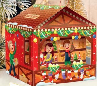 Новогодние подарки Рошен 2019, шоколадный подарок Різдвяний ярмарок, 500 г
