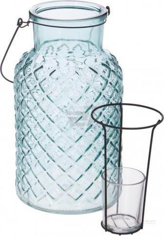 Скидка 66% ▷ Свічник Ліхтар зі скляним стаканчиком 14x26 см