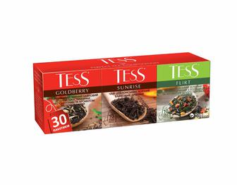 Набір пакетованого чаю Ассорті Pleasure, Sunsire,Lime goldberry, Sanrise, Flirt 48г Tess