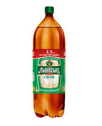 Пиво світле Львівське 2,5 л