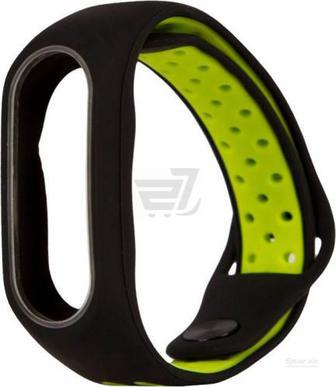 Ремінець для фітнес-браслета Xiaomi Mi Band 2 M1 black/green