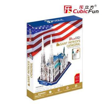 Трехмерная головоломка-конструктор CubicFun Собор Святого Патрика (MC103h)