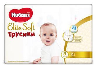 Підгузки-трусики Huggies Elite Soft 3 (6-11 кг) 54 шт./уп