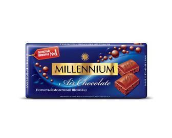 Шоколад пористий молочний Millennium Premium, 90 г