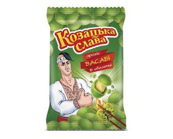 Арахіс «Козацька слава» смажений солоний смак васабі, 55г