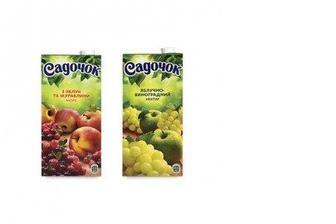 Нектар Виноград-Яблоко зеленых/красных сортов, Садочок, 0,95л