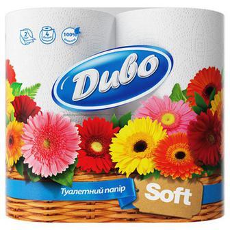 Туалетний папір Диво Soft білий 4шт