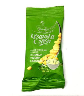 Арахіс смажений зі смаком сиру або сметани та зелені Козацька слава 60 г