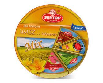 Сир плавлений Sertop асорті салямі-гриби-зелень, 27% жиру, 140г