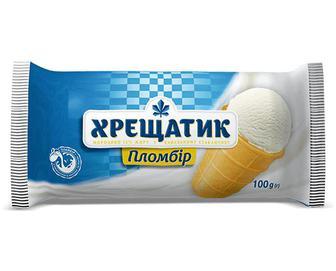 Морозиво «Хрещатик» пломбір у вафельному стаканчику, 100г