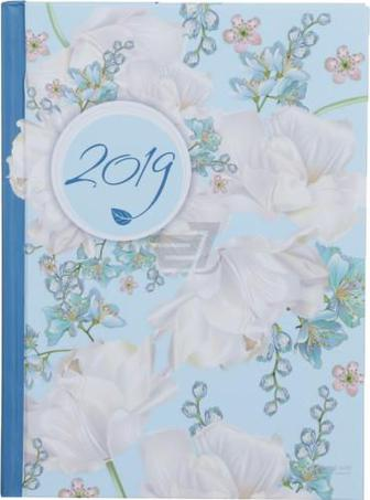 Щоденник 2019 Estilo A5 336 страниц блакитний Buromax