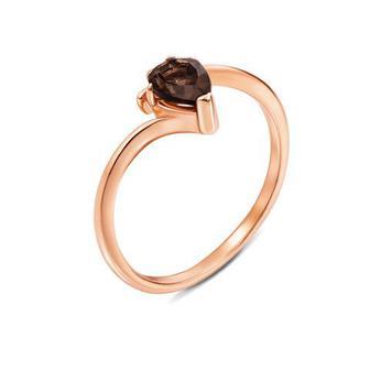Скидка 31% ▷ Золотое кольцо с раухтопазом. Артикул 530116/раух