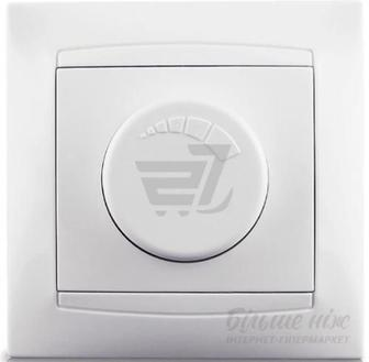 Світлорегулятор поворотний Erste Prestige 600Вт IP20 білий 9206-71,W