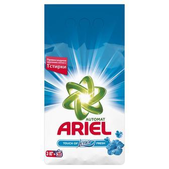 Стиральный порошок ARIEL автомат Ленор эффект воздушная свежесть, 3кг