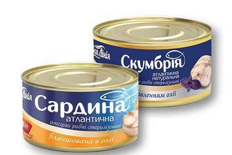 Консерви Скумбрія натуральна з добавленням олії/ Сардина атлантична, бланшована, в олії, Своя Лінія 240 г