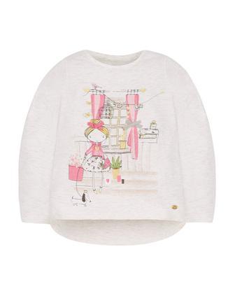 Блискуча футболка з маленькою леді від Mothercare