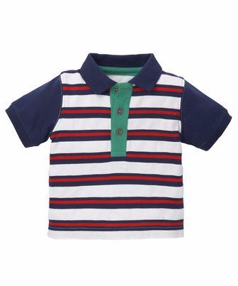 Сорочка-поло з тканини піке у смужку від Mothercare