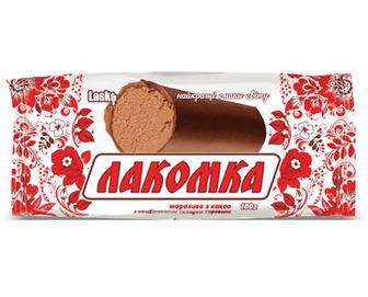 Морозиво Laska «Лакомка» з какао в глазурі, 100г