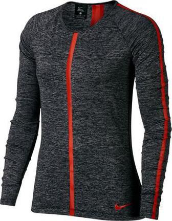 Футболка Nike Pro Hypercool Heathered LS Top W NP HPRCL TOP LS HEATHER р. M чорний 889631-011