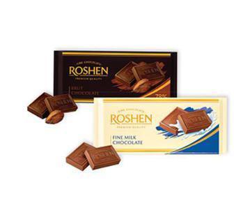 Шоколад Рошен 90 г экстрачёрный и молочный