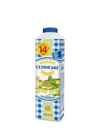 Скидка 28% ▷ Молоко питне 2,5% Селянське 950г