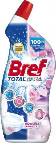 Засіб для туалету Bref WC Total Квіткова свіжість 0,7 л