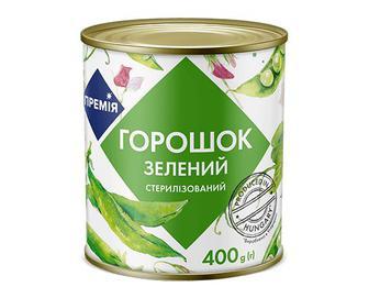 Горошок зелений консервований «Премія»® 400г