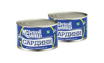 Сардини натуральні з додаванням олії Морський світ 230 г