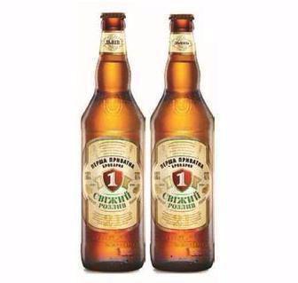 Пиво Свіжий розлив Перша Приватна Броварня 0,65л