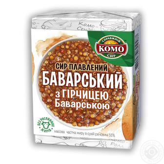 Сыр плавленый Сливочный, с ветчиной 55% Комо 90 г б