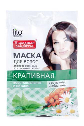 """Маска для волос Fitoкосметик с ромашкой и облепихой Крапивная, 30 мл"""""""
