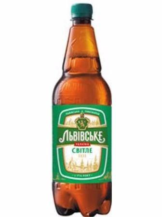 Пиво Львовское светлое пастеризованное 4,5% 1,25л