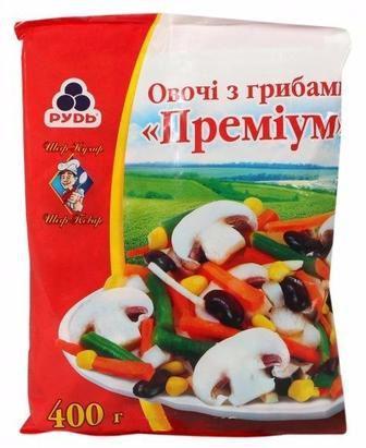 Овочі з грибами Преміум Рудь 400г