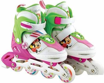 Ролики M (35-38) Disney Minnie Мусе с металлической рамой (клипса, шнурок, свет 1 колеса PU)