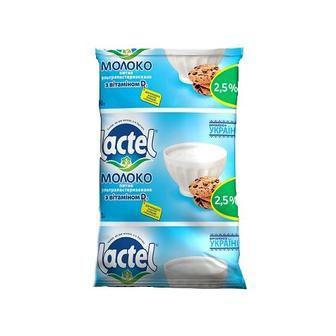 Молоко Lactel з вітаміном D 2,5% 900мл