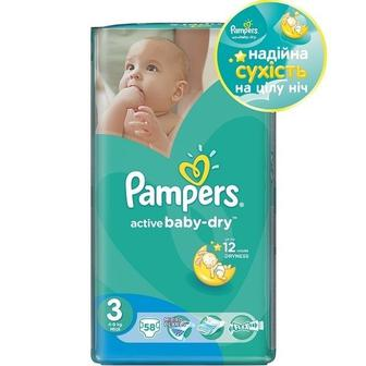 Подгузники PAMPERS Active Baby р3 4-9кг 58шт