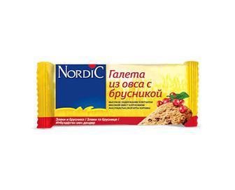 Скидка 49% ▷ Галета Nordic з вівса з брусницею, 30г