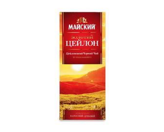 Чай «Майский» чорний «Золотий Цейлон» 25×2г