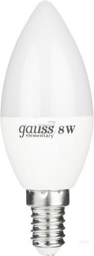 Лампа світлодіодна Gauss Elementary 8 Вт C37 матова E14 220 В 2700 К 33118