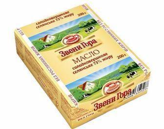 Масло солодковершкрве Селянське ЗвениГора 73% 200г